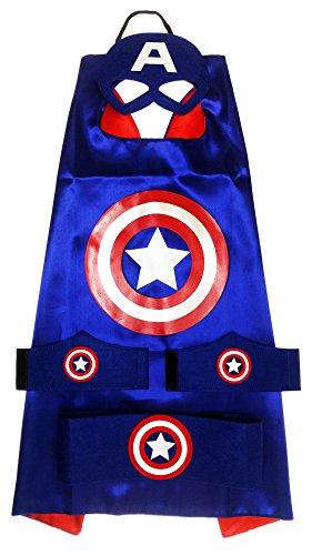 MyTinyHeroes Children's Superhero Costume - 5 Pc Set - Marvel Comics - Captain America