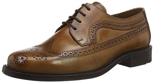 Lloyd Kay Extra-Weit, Zapatos de Cordones Brogue para Hombre Braun (REH)