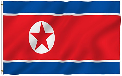 Korean Flag Pin (ANLEY [Fly Breeze] 3x5 Foot North Korea Flag - Vivid Color and UV Fade Resistant - Canvas Header and Double Stitched - N Korean National Flags Polyester with Brass Grommets)