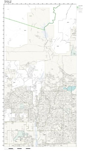 Amazon Com Zip Code Wall Map Of Peoria Az Zip Code Map Laminated