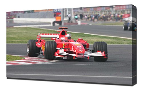 1 Art Print - Michael Schumacher 1 - Canvas Art Print - Wall Art - Canvas Wrap