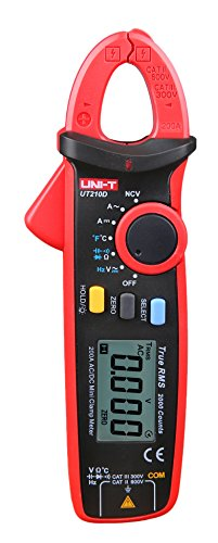 KKmoon UNI-T UT210E True RMS AC/DC Current Mini Clamp Meters with Capacitance (Automotive Clamp Meter)