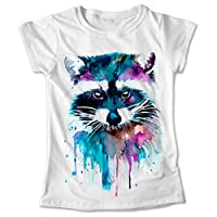 Blusa Mapache Colores Playera Estampado Animales 046