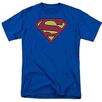 Superman Classic Logo T-shirt (Medium, Blue)