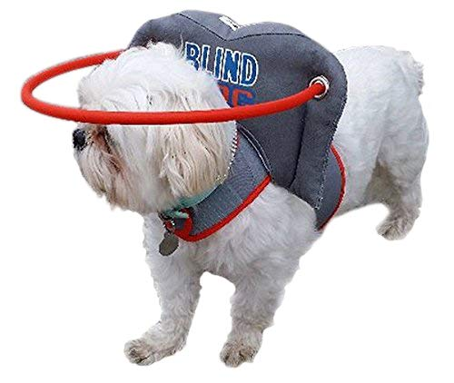 Muffin's Halo Blind Dog Harness Guide Device - Help for Blind Dogs or Visually Impaired Pets to Avoid Accidents & Build Confidence - Ideal Blind Dog Accessory to Navigate Surroundings - Small ()