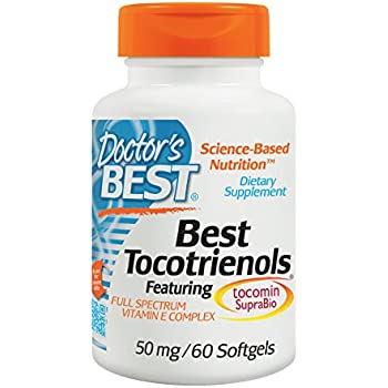 Doctor's Best Tocotrienols Featuring Tocomin Suprabio 50 mg, 60 Count