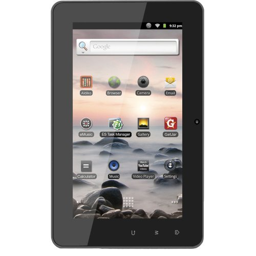 Coby Kyros 7-InchAndroid 2.3 4 GB Internet Tablet with Capacitive Touchscreen - MID7127-4G (Black) from Coby