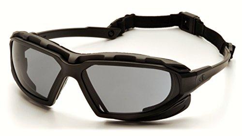 Pyramex Safety Highlander XP Eyewear, Black-Gray Frame/Gray Anti-Fog - Smoke Googles