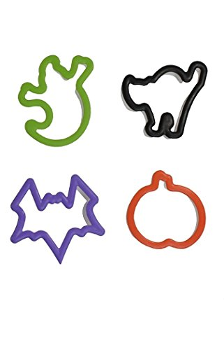 Wilton Halloween Cookie Cutters ~ Set of 4 ~ Bat, Pumpkin, Cat, Ghost