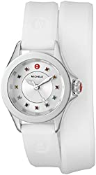 MICHELE Women's Cape Mini Quartz Stainless Steel and Silicone Dress Watch (Model: MWW27B000003)