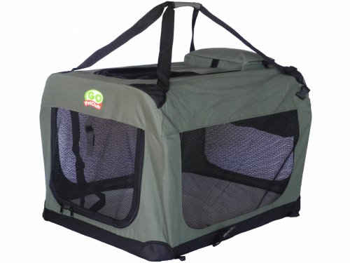 Go Pet Club Dog Pet Soft Crate, 28-Inch, Sage
