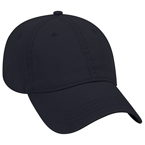 - OTTO Garment Washed Superior Cotton Twill 6 Panel Low Profile Dad Hat - Navy