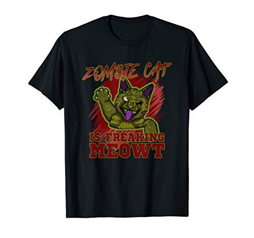 Punny Halloween Costume Ideas (Zombie Cat Is Freaking MEOWT Halloween Costume Punny)