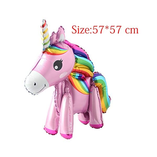 Self Stand steadily Unicorn Birthday Party Decorations Supplies Wedding Engagement Children's Day Foil Unicorn horse… 10