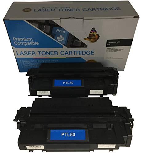 2 Compatible Black Cannon PC-1061 L50 Printer Copy Ink Toner Cartridge Replacement for Canon L5O PC1061 Personal Digital Copier Machine 6812A001AA