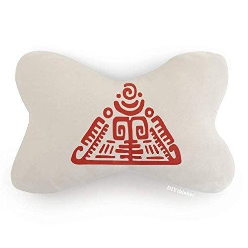 DIYthinker Totems Mexican Pyramid Ancient Civilization Car Neck Pillow Headrest Support Cushion Pad by DIYthinker