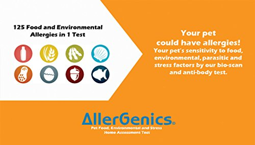At-Home Dog Allergy Testing Kit by AllerGenics- Food sensitivity, Environmental factors and Stress test analysis for Dogs | Care and Protect your Loved Ones !!