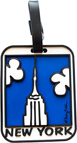 State Luggage Tag (New York Luggage Tag Empire State Building 3-D Large Heavy Duty NY Bag ID Tag)