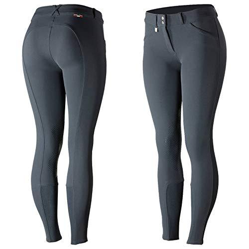 Horze Grand Prix Women's Silicone Knee Patch Breeches - Peacoat Dark Blue - 34 - Prix Coat Grand Riding
