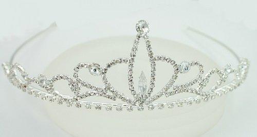 LJ Designs Beautiful Crown and Navette Tiara T10