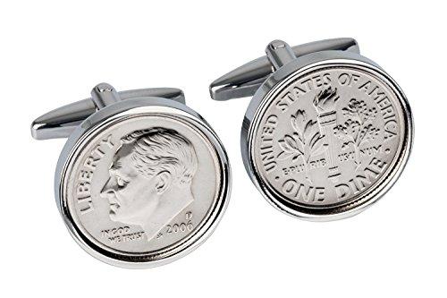 11th-Wedding-Anniversary-2006-Mint-Coin-Cufflinks-100-Satisfaction-Warranty