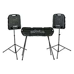 Peavey Escort Stand – Portable – Steel Construction – Useable With All Escort PA Systems – Matte Black Finish – Portable
