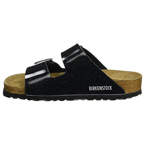Birkenstock Womens Arizona Soft Footbed Birko-Flor Sandals Magic Galaxy Black