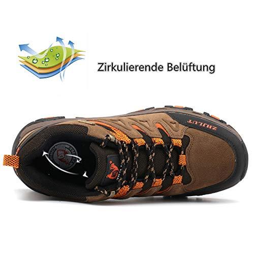 Damen Wasserdicht Gr Schuhe Outdoor Wanderschuhe Trekking Walkingschuhe 47 36 ZOEASHLEY Braun Herren wqZx4CH