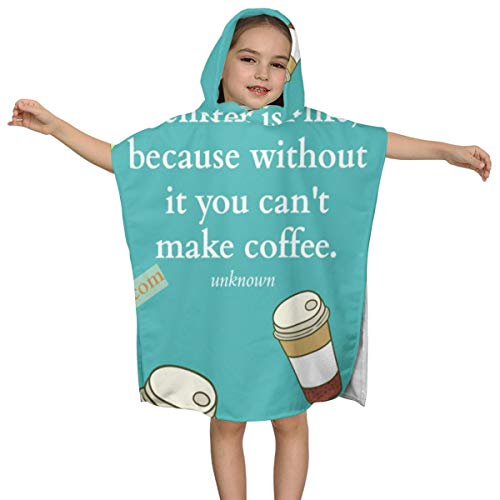 ZHOUSUN Extra Large Super Soft and Absorbent Hooded Poncho Bath Towel,A Coffee Lovers Beach Towel for Baby
