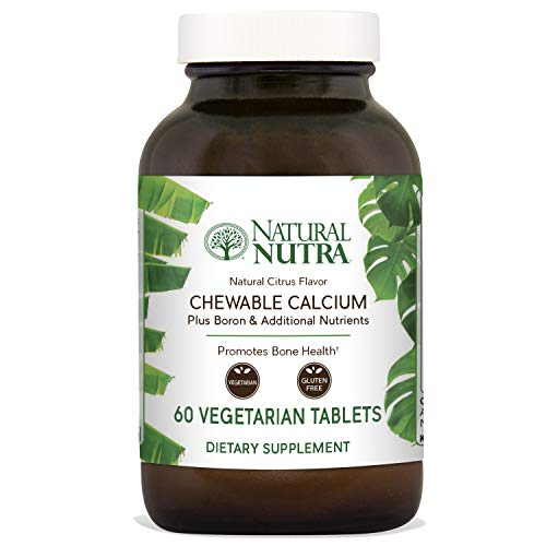 Natural Nutra Calcium Citrate Chewables with Magnesium and Vitamin D3, 1000/500 mg, Cal Mag D3 Chews for Bone, Teeth, Heart, Muscle and Nerve Health, Delicious Citrus Flavor, 60 Vegetarian Tablets