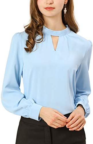 ANGVNS Camisas para mujer azul Lago Azul xx large