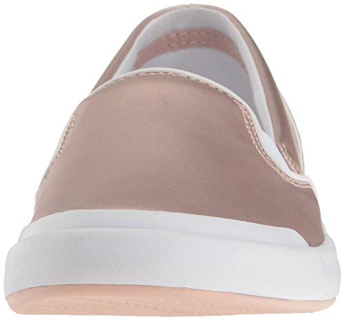 Lacoste Women's Lancelle Slip on 117 2 Fashion Sneaker, Light Pink, 8 M US