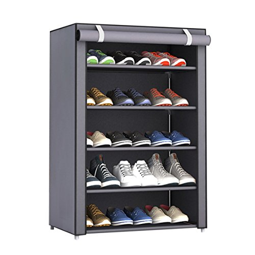 Tissu de Grande Étagère la Chaussures Chaussure Chaussures organisent Chaussures Rack Armoire Non Maison Les à Organisateur Antipoussière Taille des en dortoir tissé nXYEZxpR