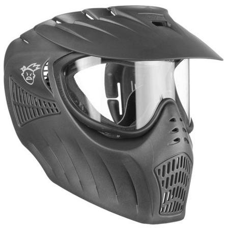 Empire Paintball X-Ray Single Lens Goggle, Black (Louvered Lens)