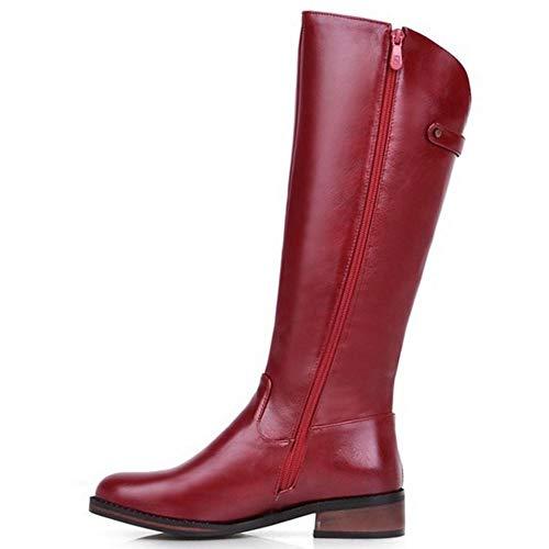 Cerniera Melady Equestri rosso 2 Moda Donne Stivali wIxUCx68q