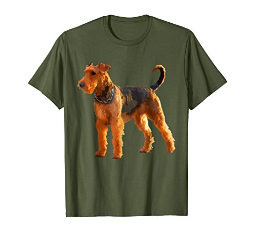 Terrier Body (Mens Airedale Terrier Dog Shirt - Airedale Terrier Body T-shirt XL Olive)