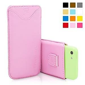 Estuche iPhone 5c, Snugg™ - Funda De Cuero Rosa Claro Con Una Garantía De Por Vida Para Apple iPhone 5c