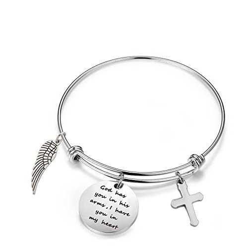 Memorial Jewelry Miscarriage Bracelet God Has You in His Arms I Have You in My Heart Bracelet (Memorial ()