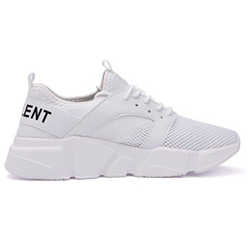 Belilent Heren Lichtgewicht Loopschoenen Ademende Atletische Vrijetijdsschoenen Mode Wandelschoenen Sneakers Wit / Witte Zool-077