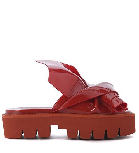 Zapatilla N°21 loves Kartell modelo Knot en PVC rojo Rojo