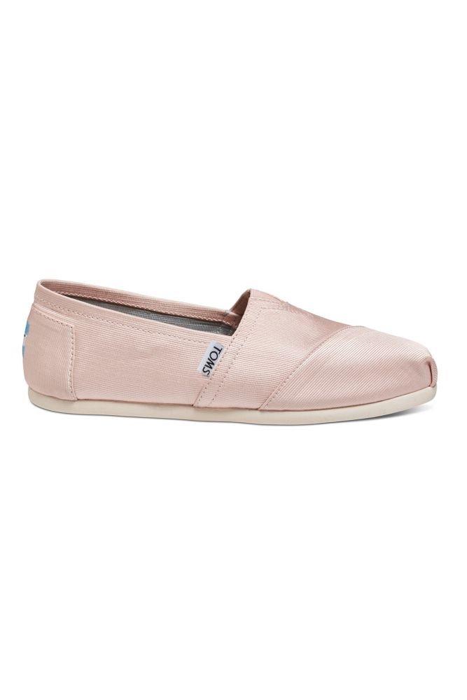 Toms Grosgrain Classic Slip-On Shoes Style 10008345, Petal, 9