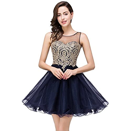 MisShow Juniors Navy Blue Prom Dress Short Dress Evening,362 navy Blue,2
