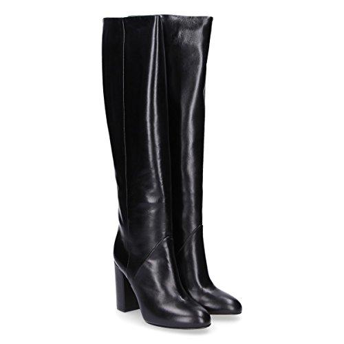 Giampaolo Viozzi Ladies Tu1729 Stivali Di Pelle Nera