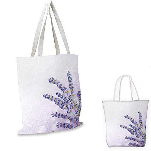 Organic Spa Tote (Lavender canvas laptop bag Little Posy of Medicinal Herb Fresh Plant of Purple Flower Spa Aromatheraphy Organic canvas tote bag with pockets Lavander. 12