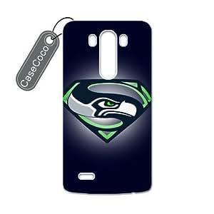 CASECOCO(TM) NFL Super Bowl Seattle Seahawks LG G3 Case - Protective Hard Back / Black Rubber Sides Case for LG G3
