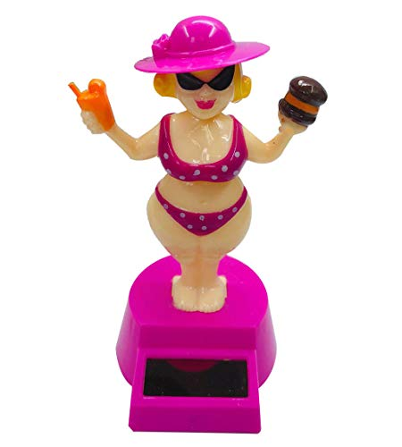 Owi Solar Powered Dancing Toys-Swing Sexy Gril Bobblehead for Car Vehicle Decoration