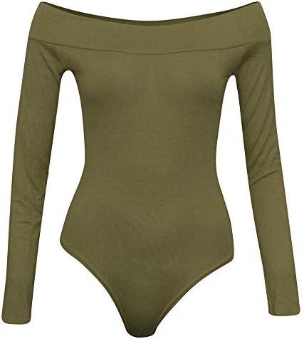 レディースジャージ上下セット ヨガの服の女性の単語の襟漏れやすい肩のジャンプスーツ (色 : アーミーグリーン, サイズ : S)