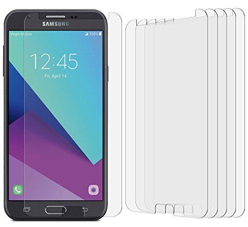 [5 Pack] Samsung Galaxy J7 Prime/Galaxy J7 Sky Pro/Galaxy Halo High Defintion Ultra Clear Screen Protector Film(Not Glass) for Galaxy J7 Prime (HD Clear)
