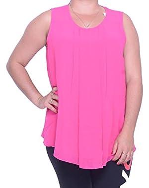 Calvin Klein Sleeveless Blouse Pink Size L