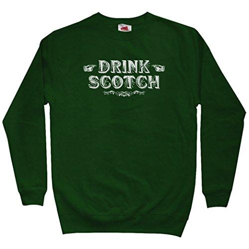 Smash Transit Men's Drink Scotch Sweatshirt - Dark Green, ()